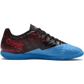 Buty piłkarskie Puma One 19.4 It M 105496 01 czarno - niebieskie czarny, niebieski czarne