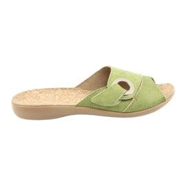 Zielone Befado obuwie damskie pu 265D008
