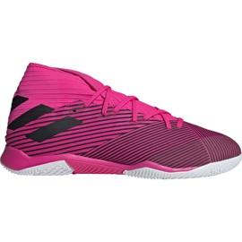 Buty piłkarskie adidas Nemeziz 19.3 In M F34411 różowe czarne