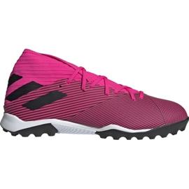 Buty piłkarskie adidas Nemeziz 19.3 Tf M F34426 różowe