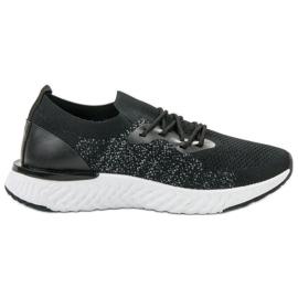 SHELOVET czarne Tekstylne Buty Sportowe