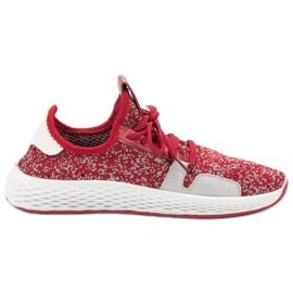 SHELOVET czerwone Wsuwane Buty Sportowe