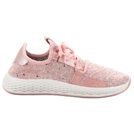 SHELOVET różowe Wsuwane Buty Sportowe