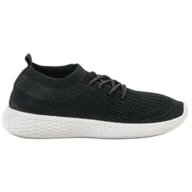 SHELOVET czarne Wsuwane Buty Sportowe