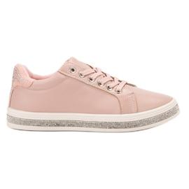 SDS różowe Buty Sportowe Z Cyrkoniami