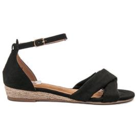 Clowse czarne Zamszowe Sandały