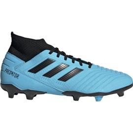 Buty piłkarskie adidas Predator 19.3 Fg M F35593 niebieskie