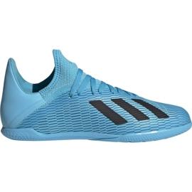 Buty piłkarskie adidas X 19.3 In Jr F35354 niebieskie