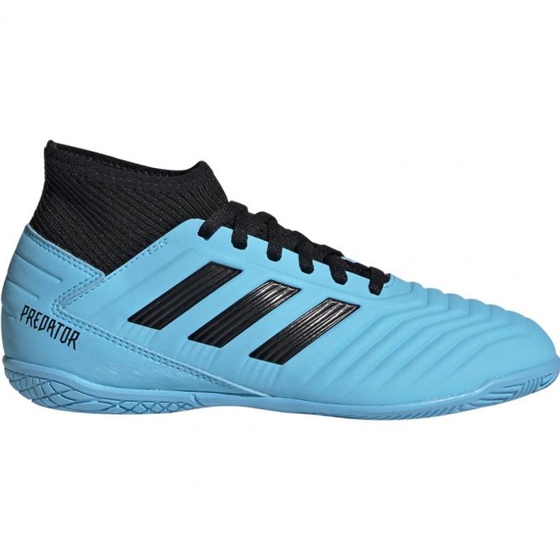 Buty piłkarskie adidas Predator 19.3 In Jr G25807 niebieskie