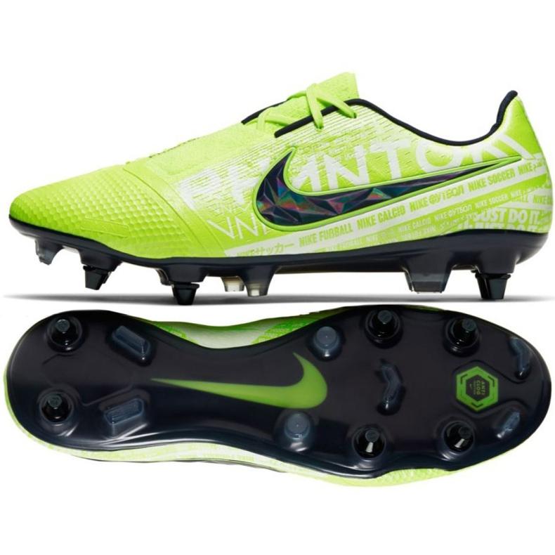 Buty piłkarskie Nike Phantom Venom Elite Sg Pro Ac M AO0575-717 zielone wielokolorowe