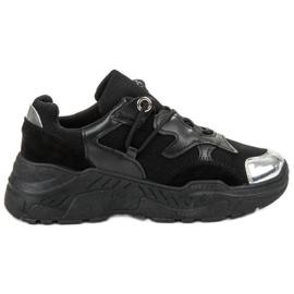 Small Swan czarne Sznurowane Sneakersy
