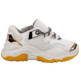 Small Swan Białe Sneakersy Damskie