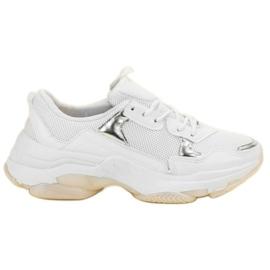 Small Swan białe Casualowe Sneakersy