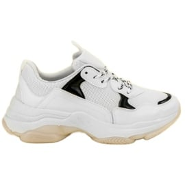 Small Swan Casualowe Sneakersy białe