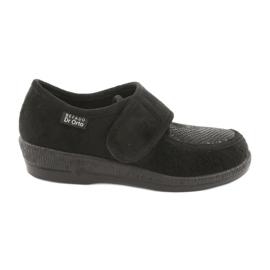 Czarne Befado obuwie damskie pu 984D012