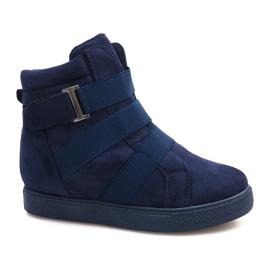 Granatowe Sneakersy Na Gumki XY-297 Granatowy