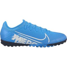 Buty piłkarskie Nike Mercurial Vapor 13 Pro Tf M AT8004 414 niebieskie