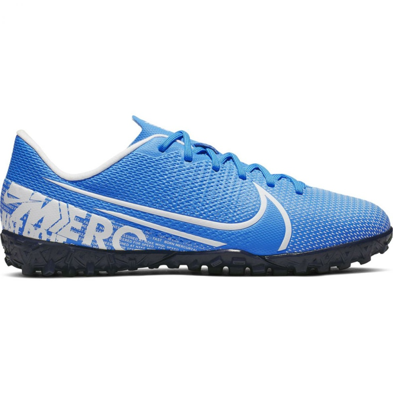 Buty piłkarskie Nike Mercurial Vapor 13 Academy Tf Jr AT8145 414 niebieskie