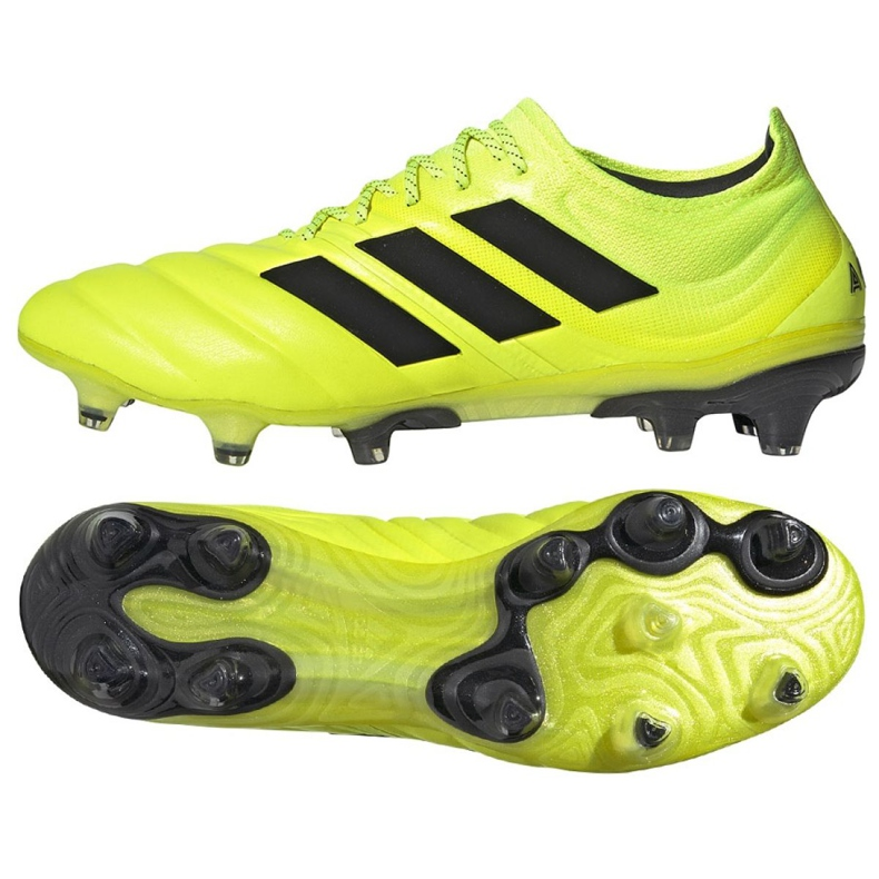 Buty piłkarskie adidas Copa 19.1 Fg M F35519 żółte żółty
