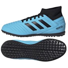 Buty piłkarskie adidas Predator 19.3 Tf Jr G25803 niebieskie niebieskie