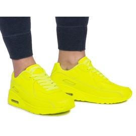 Sneakersy B503-3 Żółty żółte