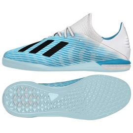 Buty halowe adidas X 19.1 In M G25754 niebieski niebieskie