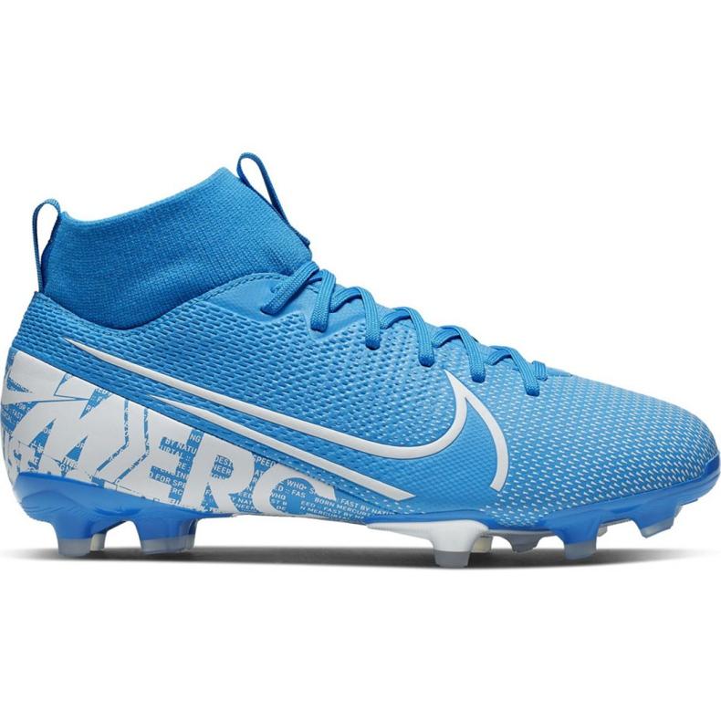 Buty piłkarskie Nike Mercurial Superfly 7 Academy FG/MG Jr AT8120 414 niebieskie
