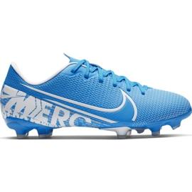Buty piłkarskie Nike Mercurial Vapor 13 Academy FG/MG Jr AT8123 414 niebieskie