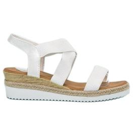 Bello Star białe Wsuwane Sandały Espadryle