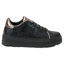 Bestelle czarne Buty Sportowe Na Platformie