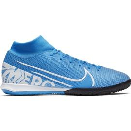 Buty piłkarskie Nike Mercurial Superfly 7 Academy Ic M AT7975 414 niebieskie