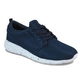 Granatowe męskie obuwie sportowe M634-1