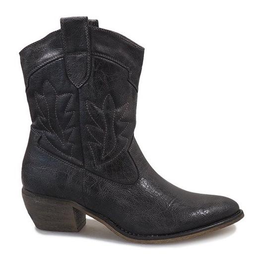 Szare kowbojki botki 10601-1