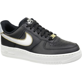 Czarne Buty Nike Air Force 1 '07 Metallic W AR0642-002