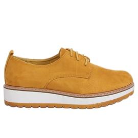 Mokasyny damskie żółte C-7225 Yellow