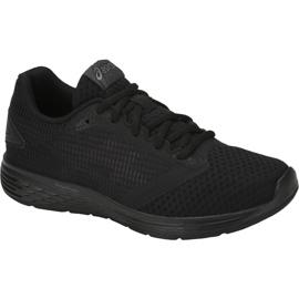 Czarne Buty biegowe Asics Patriot 10 Gs Jr 1014A027-002