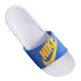 Niebieskie Klapki Nike Benassi Jdi Print 631261-104