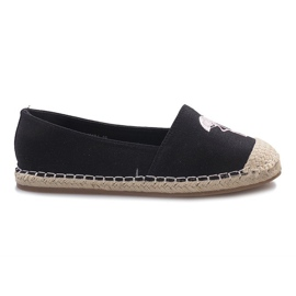 Czarne espadryle Flaming