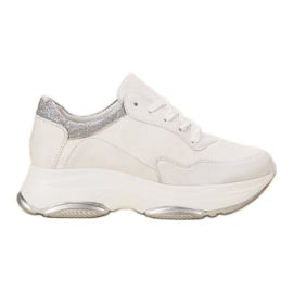 SDS białe Lekkie Sneakersy
