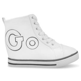 Białe Modne Sneakersy Go GFA108 Biały