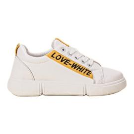 Jumex białe Wygodne Obuwie Sportowe