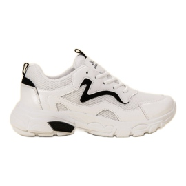 SHELOVET białe Sznurowane Buty Sportowe
