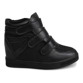 Czarne Sneakersy Na Koturnie 7776 Czarny