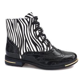 Botki Zebra 6722-1 Czarny