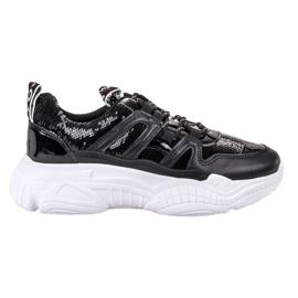 Ax Boxing Sneakersy Z Cekinami czarne