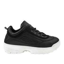 Czarne obuwie sportowe sneakersy GL808