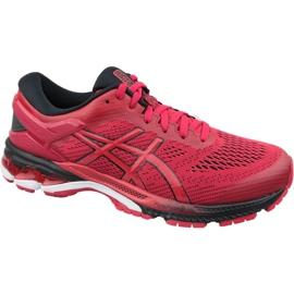 Czerwone Buty biegowe Asics Gel-Kayano 26 M 1011A541-600