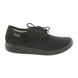 Czarne Befado obuwie damskie pu  990D001
