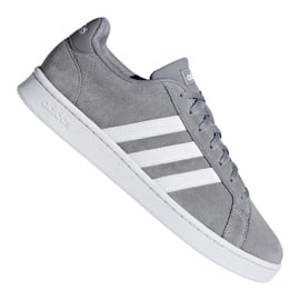Szare Buty adidas Grand Court M F36412
