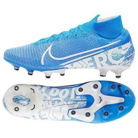 Buty Nike Mercurial Superfly 7 Elite Ag Pro M AT7892 414 niebiesko białe